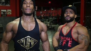 Huggin The Sleeves: Arm Day & Posing Practice (feat. Jaron Mosley)