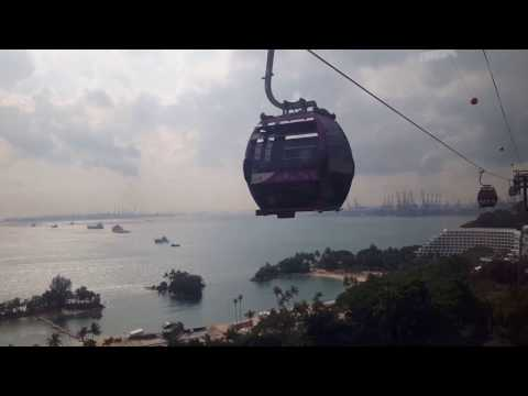 Singapore'cable car ride 2017
