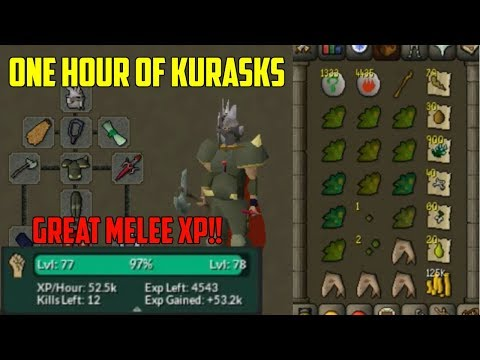 OSRS - Loot From One Hour Of Kurasks! (Money Maker/XP)