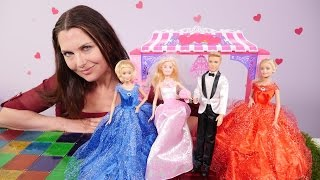 Prinzessin Kleid Barbie Brautkleid Puppe Anziehen In Rosa Und Weiß