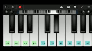 hawa de warke ninja song melody play on piano | how to play song on piano | walk band tutorial | Raj
