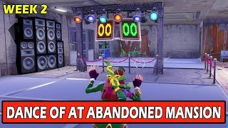 """""""Compete in a Dance off in an Abandoned Mansion"""" LOCATION GUIDE! FORTNITE CHALLENGES!"""
