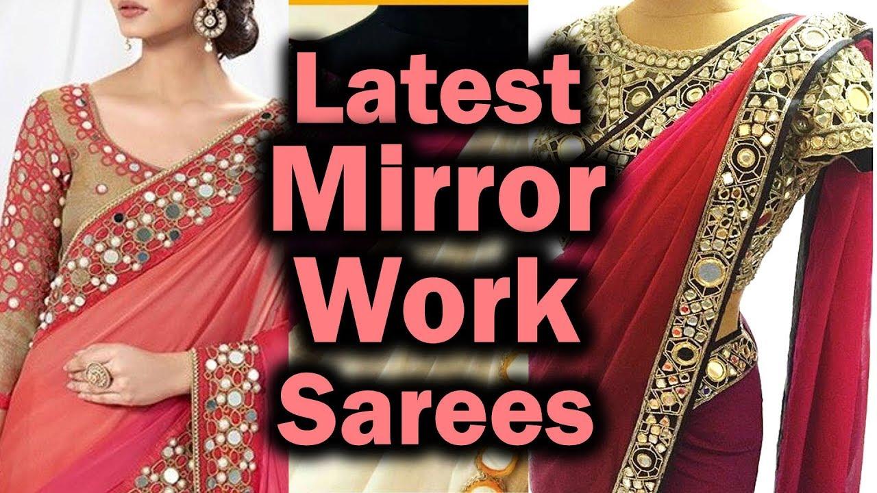 84af921125106c Saree Design With Mirror Work | Designer Saree With Mirror Work | Mirror  Work Designer Saree