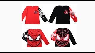 человек паук футболка с длинными рукавами для мальчиков,  детская одежда. Spiderman Hero T-shirt