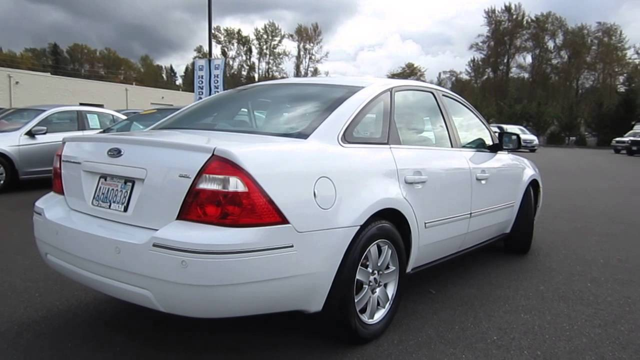 2005 ford five hundred white stock b2318a walk around