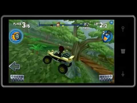 Beach buggy racing dino jungle secret shortcuts gameplay gold