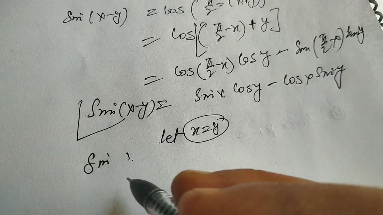 Trigonometric functions (sin 2x=2sinxcosx) session 15 ...