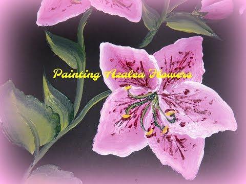 Painting Azalea Flowers | Painting Flowers | Painting Flowers Tutorial | Aressa | 2018