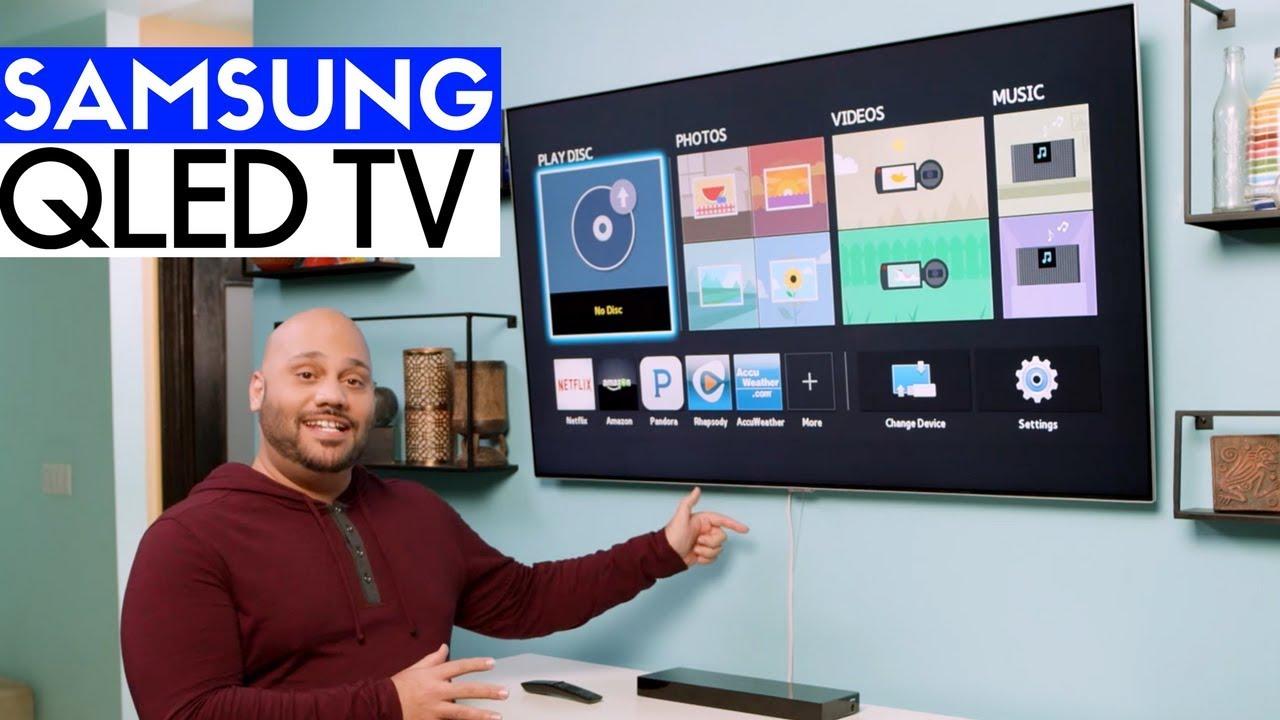 Samsung Qled Q7f 4k Hdr Tv Unboxing Setup Wall Mount