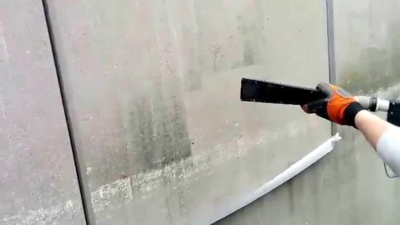 Berühmt Tec-Jet Beton Fassaden Reinigung mit Trockeneis - YouTube @HY_87