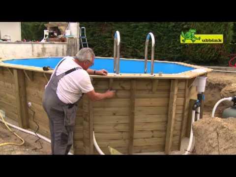 Charming Ubbink Wooden Pool Océa 400 X 610, Octagonal Model