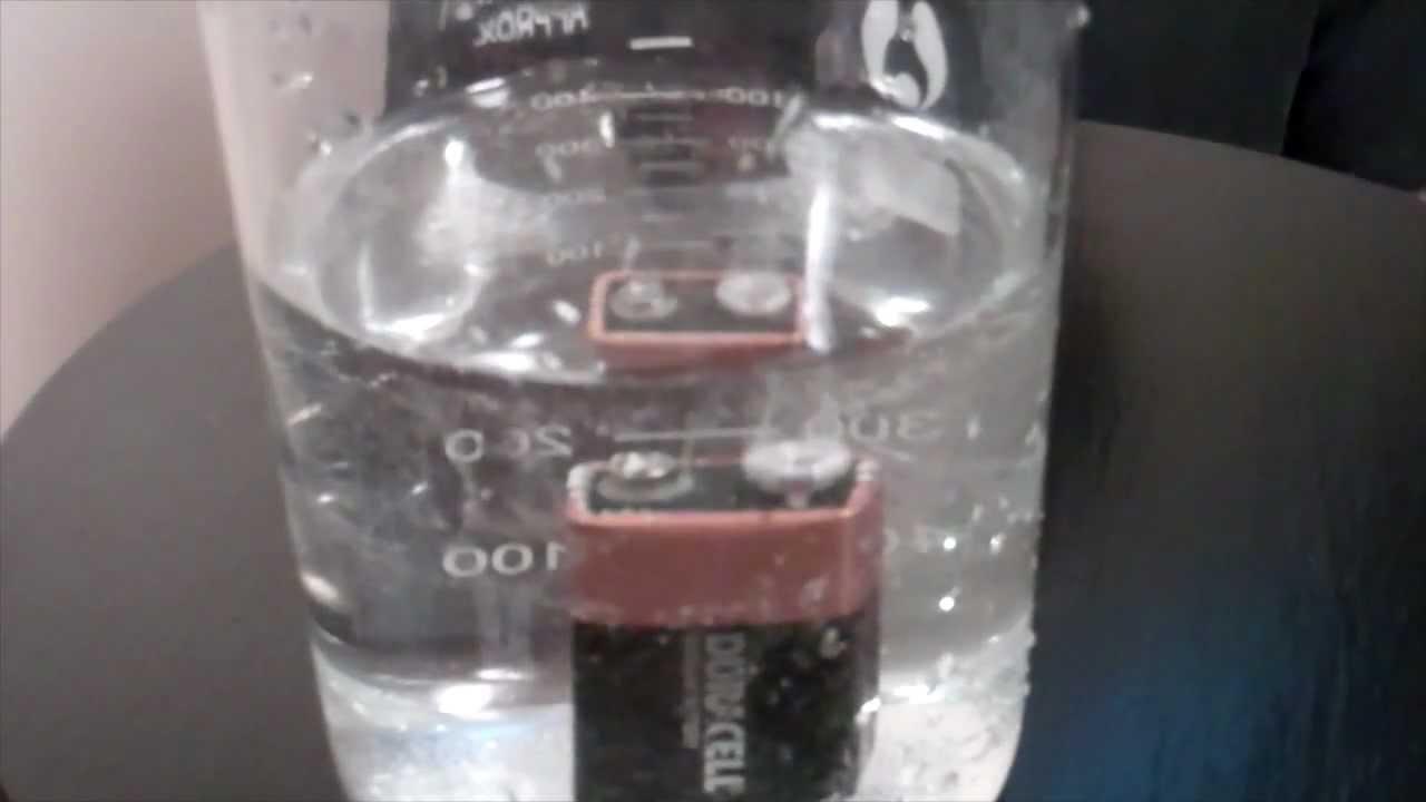 Electrolysis Volt Battery Water 9 Demo