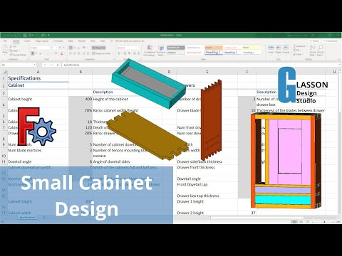 Designing a small cabinet using FreeCAD and spreadsheets