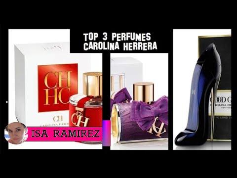 Top 3 perfumes de Carolina Herrera