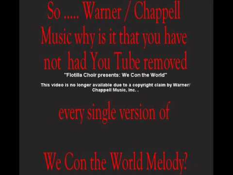 copyright claim by Warner Chappell Music.wmv