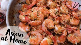 The BEST Garlic Shrimp