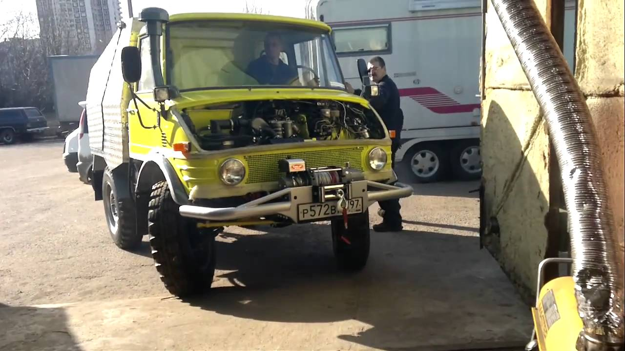 yellow mb unimog 421 youtube. Black Bedroom Furniture Sets. Home Design Ideas