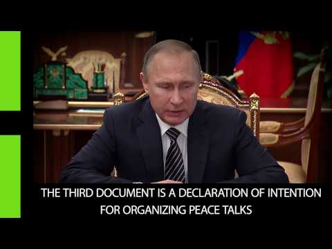 Putin: Syria ceasefire agreement reached, readiness to start peace talks