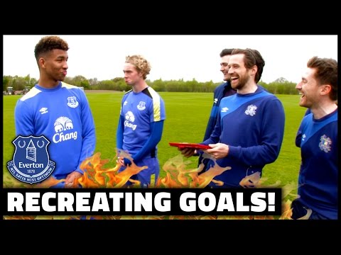 RECREATING LEGENDARY GOALS WITH EVERTON'S TOM DAVIES & MASON HOLGATE!