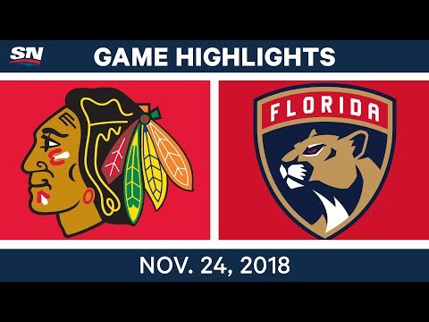 NHL Highlights | Blackhawks vs. Panthers – Nov. 24, 2018