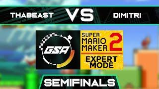 Thabeast721 vs Dimitri | Semifinals | GSA SMM2 Expert Mode Speedrun League Playoffs Season 3