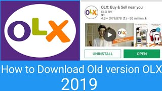 Gambar cover How to Download Old OLX || How to Download old version OLX