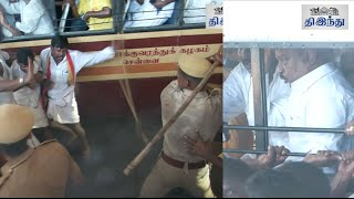 Anti-liquor protest: Vijayakanth arrested; Police lathi-charge DMDK Cadres