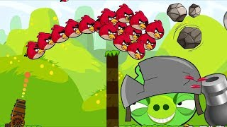 Angry Birds Cannon Collection 2 - OVERDRIVE FORCE 100 STONE TO BIGGEST PIGGIES!