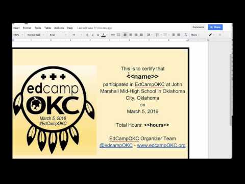Email Mail Merge Custom PDF Certificates with autoCrat for Google