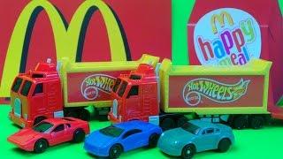1998 - McDONALDS KIDS HAPPY MEAL  MATTEL HOT WHEELS CARS + SEMI TRAILER SURPRISE OPENINGS
