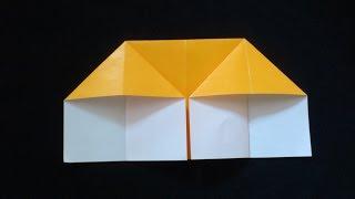 Cara Membuat Origami Rumah Dua Pintu   Origami Rumah   Origami Bangunan