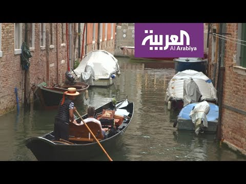 القناة الكبرى في البندقية تشكل إحدى الممرات المائية الرئيسية في المدينة  - نشر قبل 3 ساعة