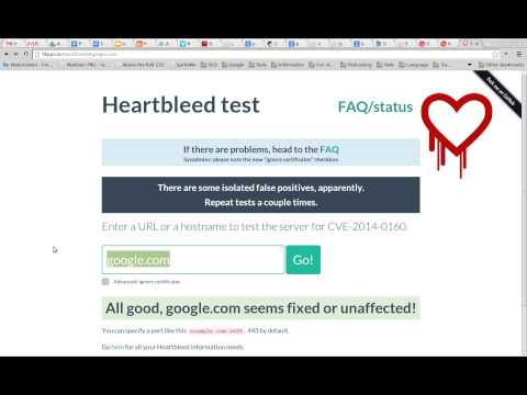 How to check your site for the Heart Bleed bug