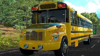 Autobús Escolar! Freightliner FS65   Transportando estudiantes MAPA MÉXICO!