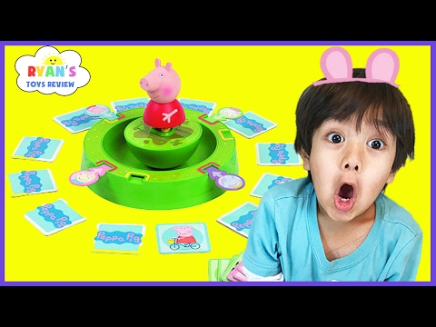 Thumbnail: PEPPA PIG TUMBLE & SPIN GAME! Family Fun Game for Kids Egg Surprise Toys! Children Activities memory
