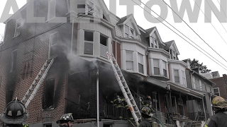 Quick knockdown by Allentown Firefighters on this house fire 02/05/17