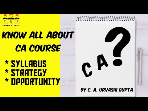 what is ca course details