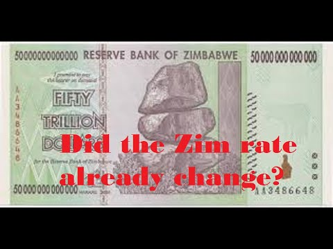 Did The Rate Change For Zim Already Happen