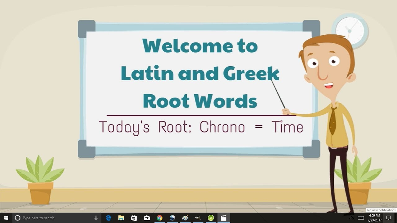 latin and greek root words  chrono   time