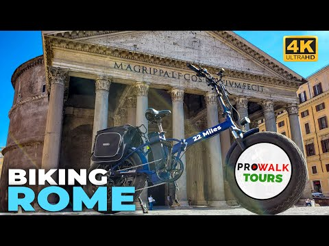 3-Hour Biking Tour of Rome, Italy in 4K