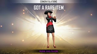 Got Noble lady bundle permanent in gold royale😍    Free fire