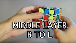 Right to Left Method 3x3x3 Rubik's Cube (Middle Layer)