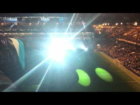 Lights show pre match Chelsea v Manchester United Fa Cup Quarter Final 2017