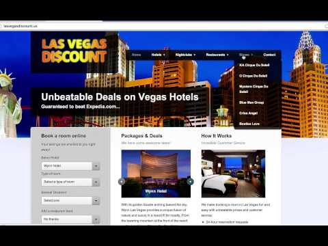 Las Vegas Hotel Discount - How to find the biggest discount for Las Vegas Hotels from All Websites
