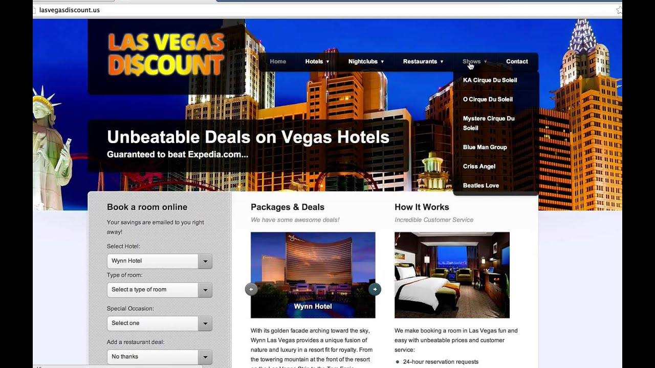 Las Vegas Hotel Discount How To Find The Biggest Discount For Las Vegas Hotels From All Websites
