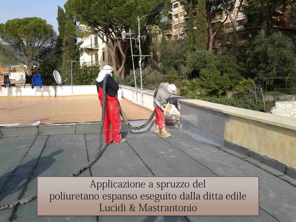 Poliuretano espanso a spruzzo - Impermeabilizzazione terrazzi e ...
