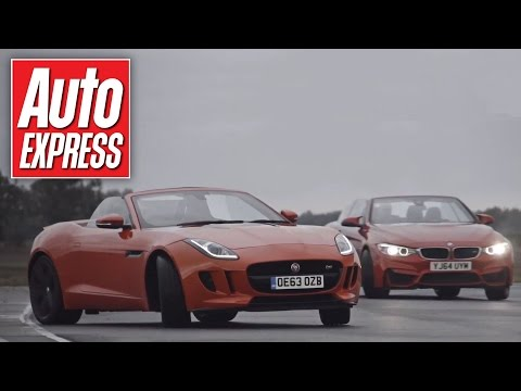 BMW M4 vs Jaguar F-Type Drift Off
