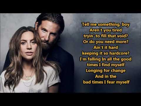 Lady Gaga, Bradley Cooper- Shallow (Lyrics) {HeyLyrics}