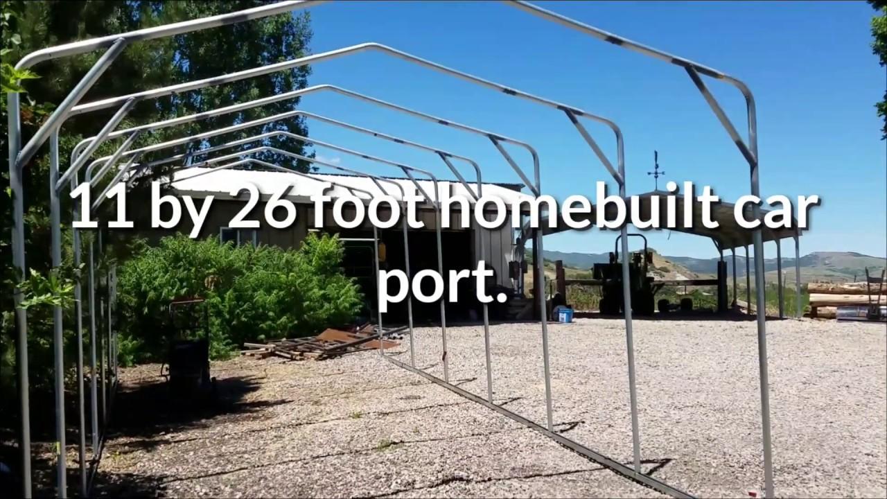 Dollar homebuilt carport youtube