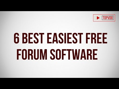 6 Best Easiest Free Forum Software  | Best Free Open Source Forum